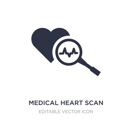 medical heart scan icon on white background. Simple element illustration from Medical concept. medical heart scan icon symbol design.