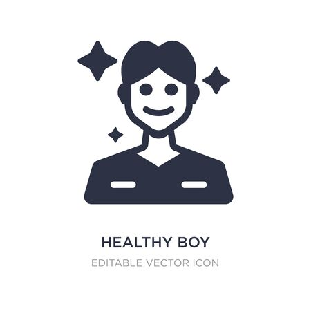 healthy boy icon on white background. Simple element illustration from Dentist concept. healthy boy icon symbol design.
