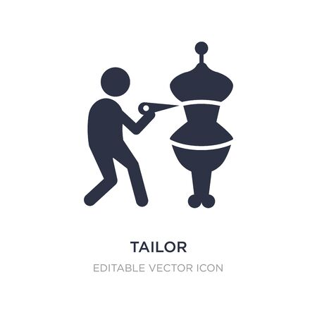 tailor icon on white background. Simple element illustration from Fashion concept. tailor icon symbol design. Ilustracja