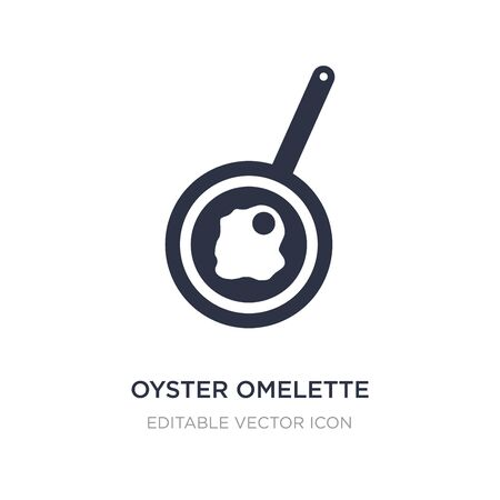 oyster omelette icon on white background. Simple element illustration from Food concept. oyster omelette icon symbol design.