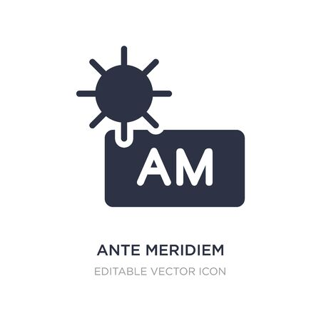 ante meridiem icon on white background. Simple element illustration from Weather concept. ante meridiem icon symbol design. Illustration