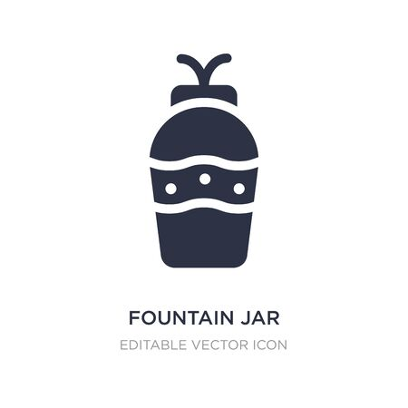 fountain jar icon on white background. Simple element illustration from Art concept. fountain jar icon symbol design.