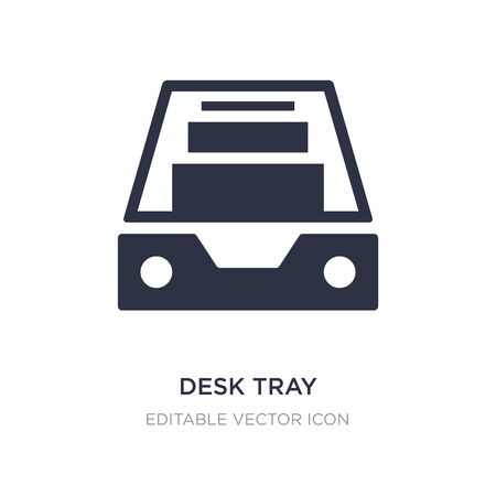 desk tray icon on white background. Simple element illustration from General concept. desk tray icon symbol design.