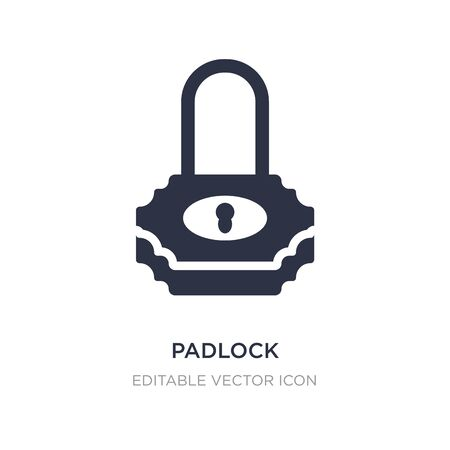 padlock protection active icon on white background. Simple element illustration from Security concept. padlock protection active icon symbol design. Çizim