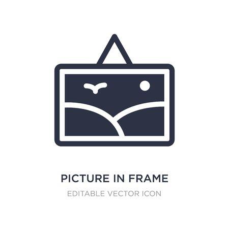 picture in frame icon on white background. Simple element illustration from Art concept. picture in frame icon symbol design.