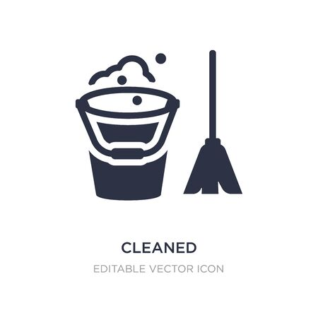 cleaned icon on white background. Simple element illustration from Furniture and household concept. cleaned icon symbol design.
