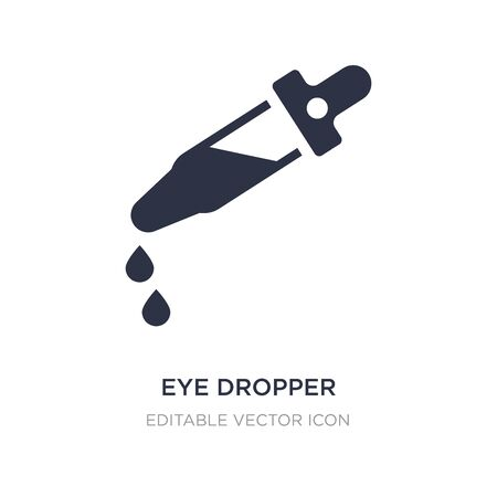 eye dropper icon on white background. Simple element illustration from Medical concept. eye dropper icon symbol design.
