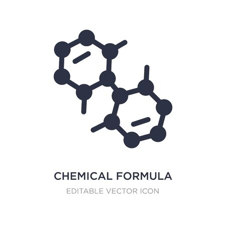 chemical formula icon on white background. Simple element illustration from Education concept. chemical formula icon symbol design.