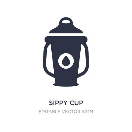 sippy cup icon on white background. Simple element illustration from Food concept. sippy cup icon symbol design. 일러스트