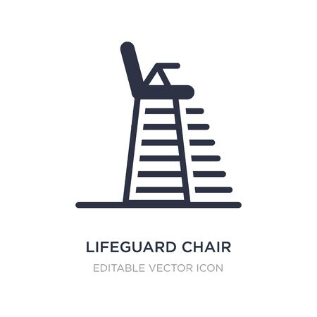 lifeguard chair icon on white background. Simple element illustration from Security concept. lifeguard chair icon symbol design.