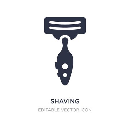 shaving icon on white background. Simple element illustration from Beauty concept. shaving icon symbol design.