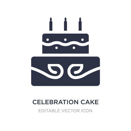 celebration cake icon on white background. Simple element illustration from Food concept. celebration cake icon symbol design. Иллюстрация