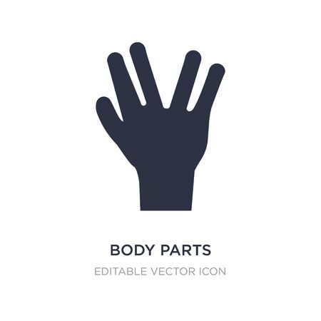 body parts icon on white background. Simple element illustration from Guestures concept. body parts icon symbol design. Ilustração