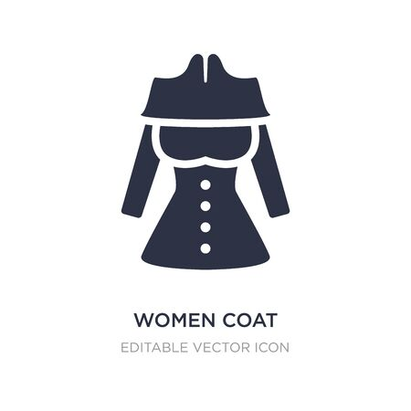 women coat icon on white background. Simple element illustration from Fashion concept. women coat icon symbol design.