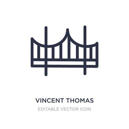 vincent thomas bridge icon on white background. Simple element illustration from Monuments concept. vincent thomas bridge icon symbol design. 일러스트