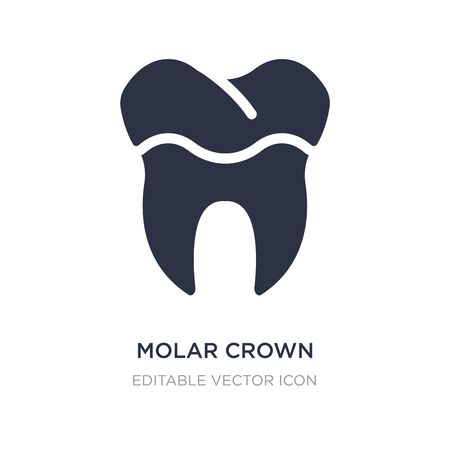 molar crown icon on white background. Simple element illustration from Dentist concept. molar crown icon symbol design. 일러스트