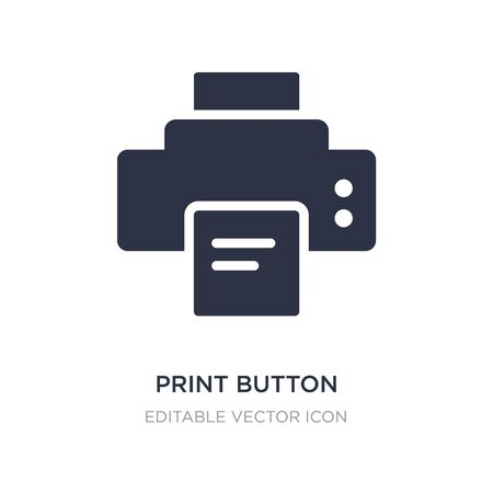print button icon on white background. Simple element illustration from Tools and utensils concept. print button icon symbol design.  イラスト・ベクター素材