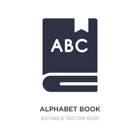 alphabet book icon on white background. Simple element illustration from Education concept. alphabet book icon symbol design.