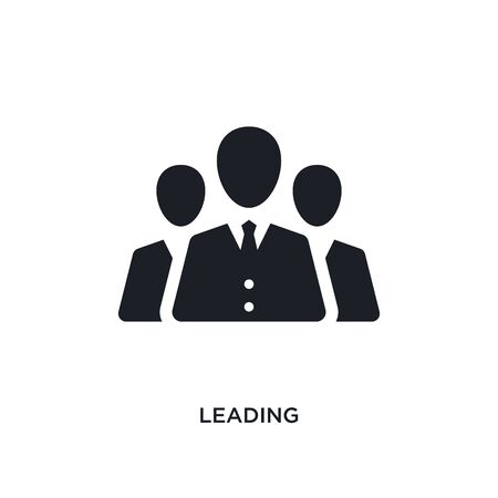 leading isolated icon. simple element illustration from technology concept icons. leading editable logo sign symbol design on white background. can be use for web and mobile