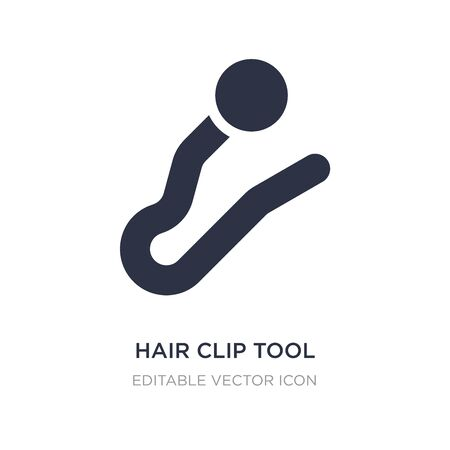 hair clip tool icon on white background. Simple element illustration from Beauty concept. hair clip tool icon symbol design.