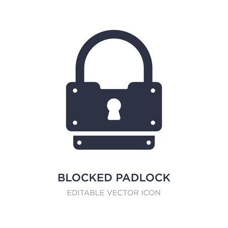 blocked padlock icon on white background. Simple element illustration from Security concept. blocked padlock icon symbol design.