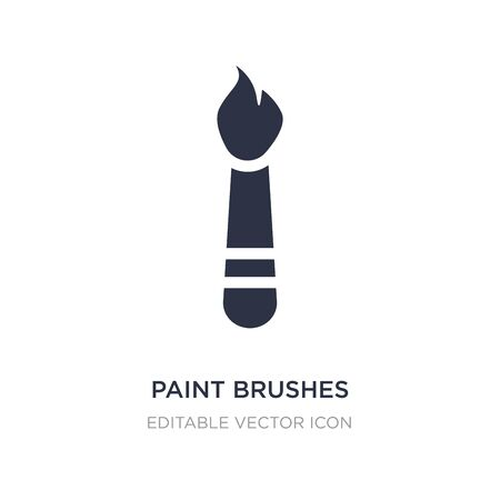 paint brushes icon on white background. Simple element illustration from Art concept. paint brushes icon symbol design. Ilustração