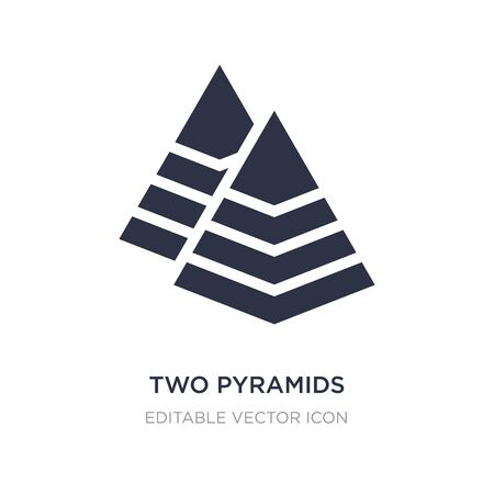 two pyramids icon on white background. Simple element illustration from Seo and web concept. two pyramids icon symbol design. Ilustracja