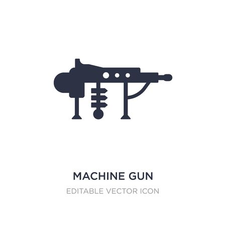 machine gun icon on white background. Simple element illustration from Weapons concept. machine gun icon symbol design.
