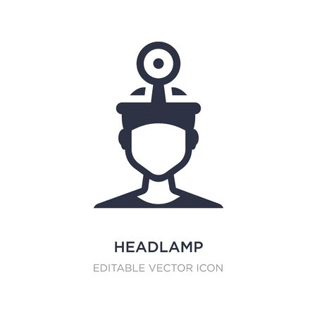headlamp icon on white background. Simple element illustration from Dentist concept. headlamp icon symbol design.