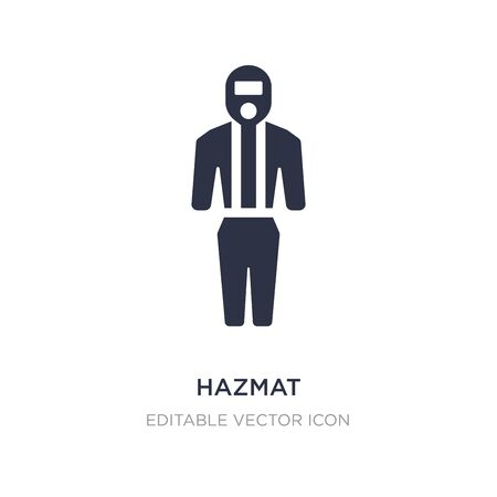 hazmat icon on white background. Simple element illustration from Fashion concept. hazmat icon symbol design.