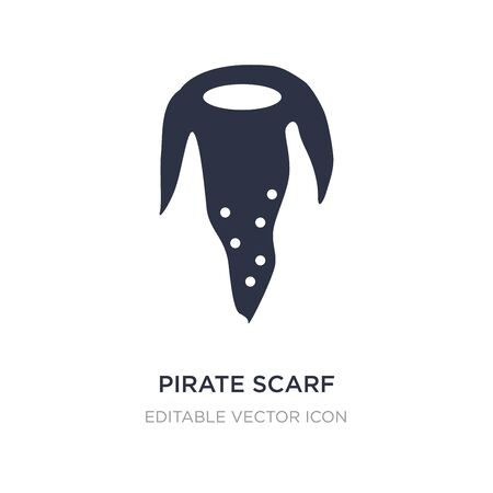 pirate scarf icon on white background. Simple element illustration from Fashion concept. pirate scarf icon symbol design.