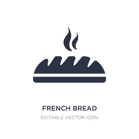 french bread icon on white background. Simple element illustration from Food concept. french bread icon symbol design.