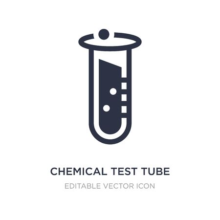 chemical test tube icon on white background. Simple element illustration from Education concept. chemical test tube icon symbol design.