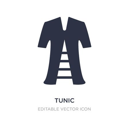 tunic icon on white background. Simple element illustration from Fashion concept. tunic icon symbol design. Иллюстрация