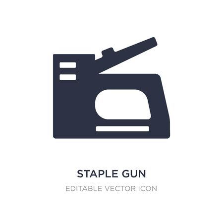 staple gun icon on white background. Simple element illustration from Construction and tools concept. staple gun icon symbol design.