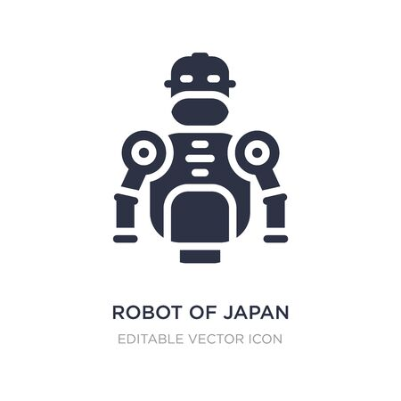 robot of japan icon on white background. Simple element illustration from Other concept. robot of japan icon symbol design.