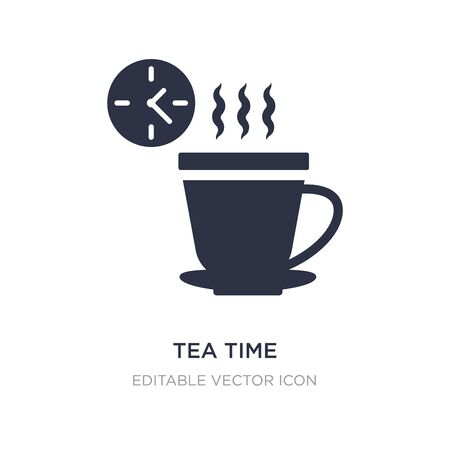 tea time icon on white background. Simple element illustration from Food concept. tea time icon symbol design.