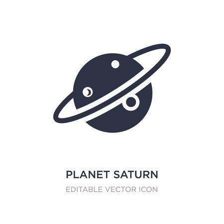 icône de la planète Saturne sur fond blanc. Illustration d'élément simple du concept de l'éducation. conception de symbole d'icône de planète Saturne.