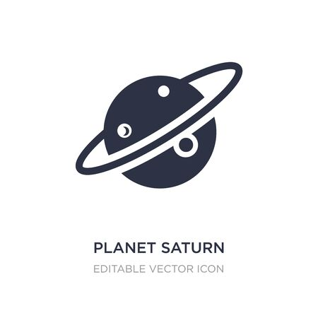 planet saturn icon on white background. Simple element illustration from Education concept. planet saturn icon symbol design.