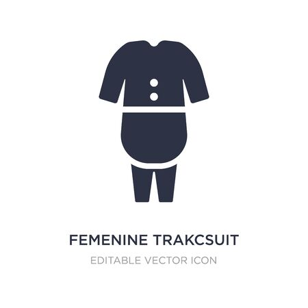 femenine trakcsuit icon on white background. Simple element illustration from Fashion concept. femenine trakcsuit icon symbol design. Ilustração
