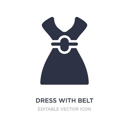dress with belt icon on white background. Simple element illustration from Fashion concept. dress with belt icon symbol design.