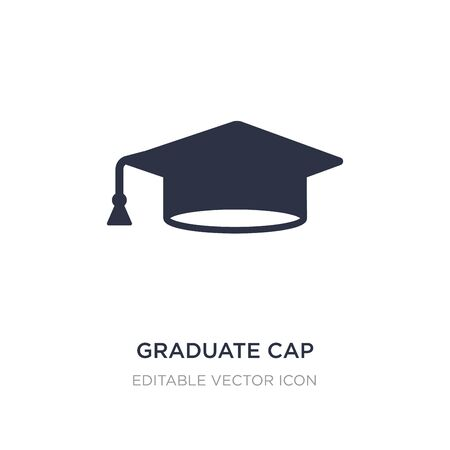graduate cap icon on white background. Simple element illustration from Education concept. graduate cap icon symbol design. Ilustração