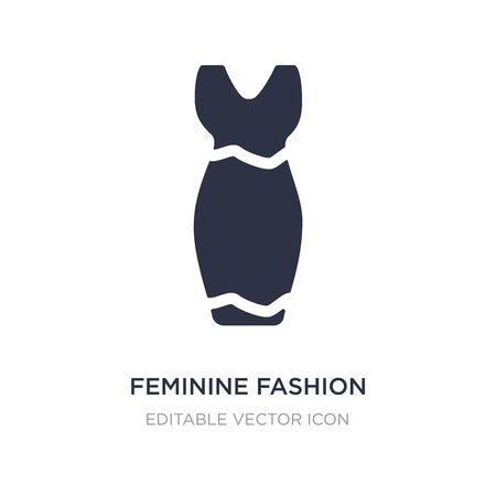 feminine fashion icon on white background. Simple element illustration from Fashion concept. feminine fashion icon symbol design.