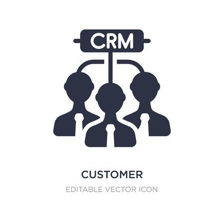 customer relationship management icon on white background. Simple element illustration from Business concept. customer relationship management icon symbol design.