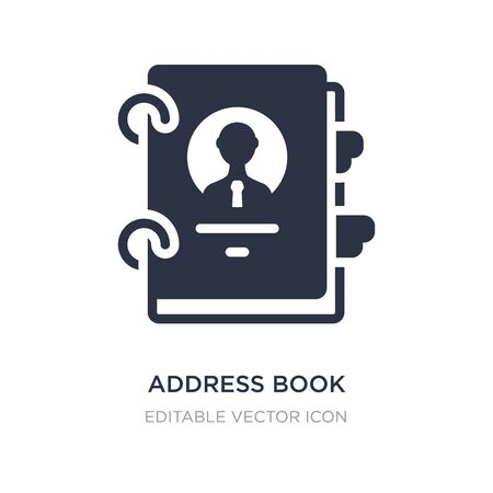 address book icon on white background. Simple element illustration from Business concept. address book icon symbol design. Ilustração