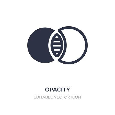 opacity icon on white background. Simple element illustration from Edit tools concept. opacity icon symbol design.