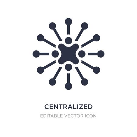 centralized connections icon on white background. Simple element illustration from Business concept. centralized connections icon symbol design.