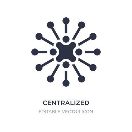 icône de connexions centralisées sur fond blanc. Illustration d'élément simple du concept d'entreprise. conception de symbole d'icône de connexions centralisées.