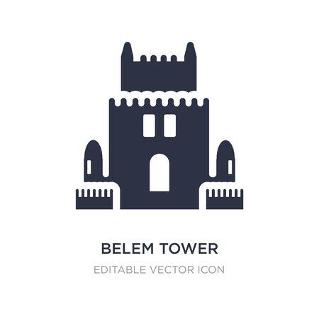 belem tower icon on white background. Simple element illustration from Monuments concept. belem tower icon symbol design. Ilustração