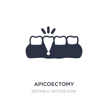 apicoectomy icon on white background. Simple element illustration from Dentist concept. apicoectomy icon symbol design. Illusztráció
